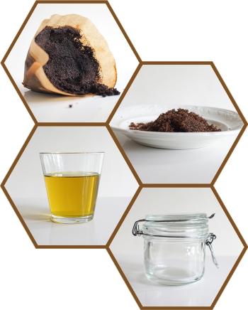 ingrediënten bodyscrub koffiedik