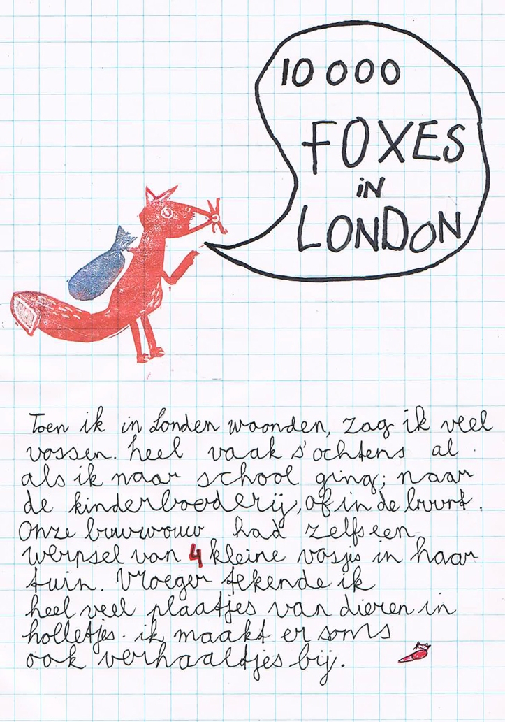 fox drawing vos tekening busybeezzz