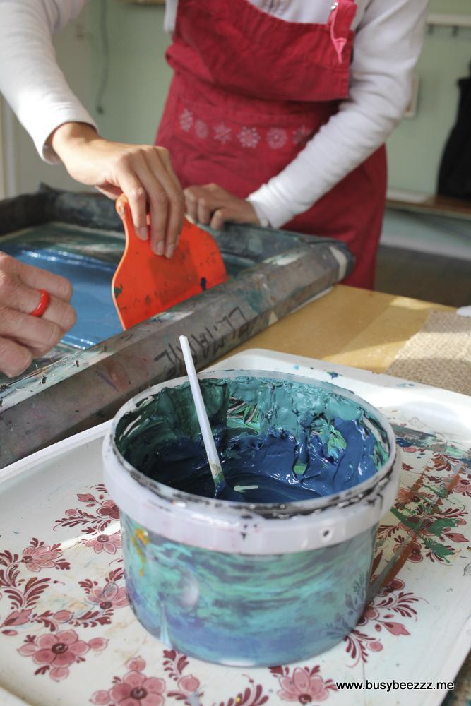 zeefdruk textiel BusyBeezzz naaiatelier stof bedrukken