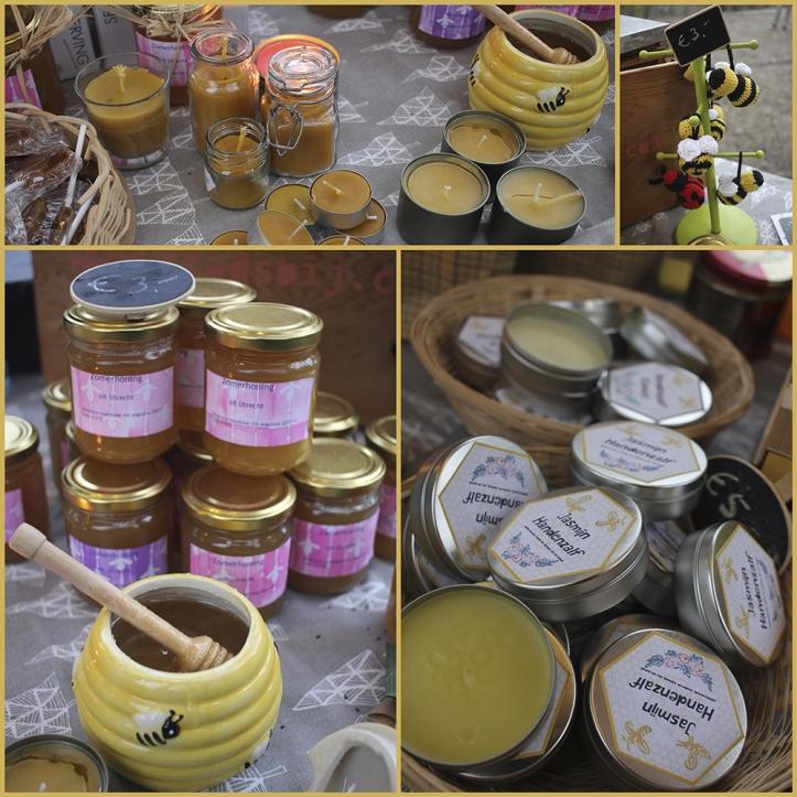 De echte Utrechtse honing scoorde prima en ook de andere honing- en bijenwasprodukten konden op belangstelling rekenen.
