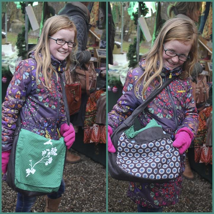 Haar prachtige, oudste dochter heeft een echte BusyBeezzz-tas. Curtom-made en volstrekt uniek. Ze wilde de tas best even showen!