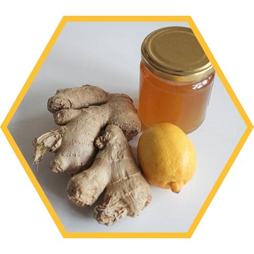 gember met honing