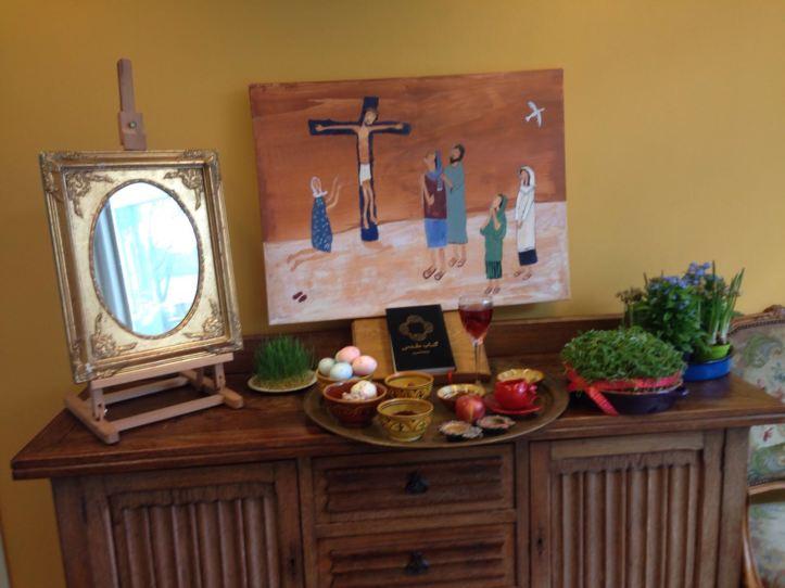 Jezus troost zijn moeder, Maria, Johannes, Goede Vrijdag, Lijdensweek, kruisweg